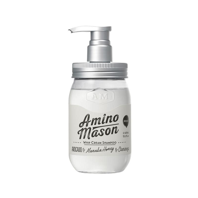 【POP渠道】一般贸易 日本Amino Mason氨基酸无硅油洗发露(滋养型)450ml