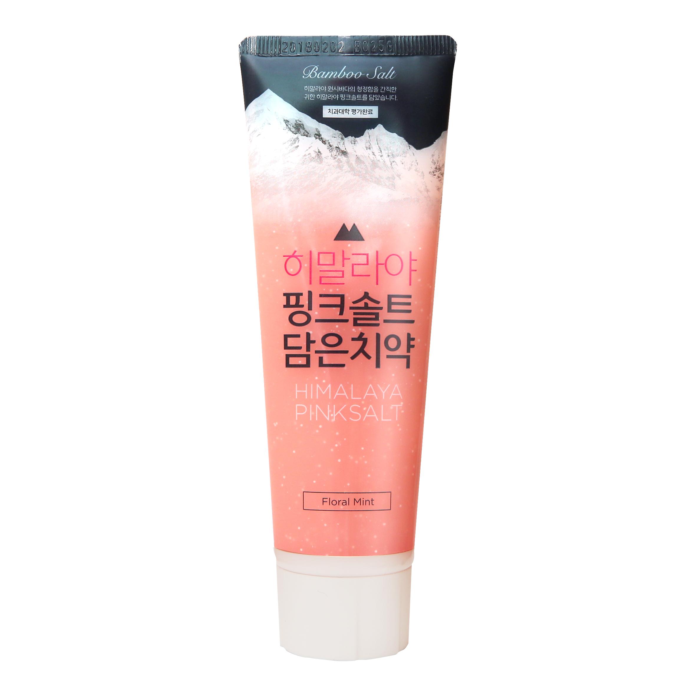 【ZY】【一般贸易】韩国LG 竹盐喜马拉雅粉盐牙膏(冰澈薄荷)100g