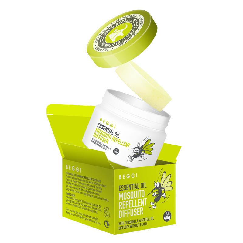 【ZY】【一般贸易】新西兰 BEGGI 鼻精灵植物精油驱蚊香薰 40g