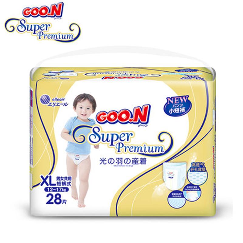 【国内贸易】日本 GOO.N大王 光羽系列拉拉裤 XL28 6包/箱