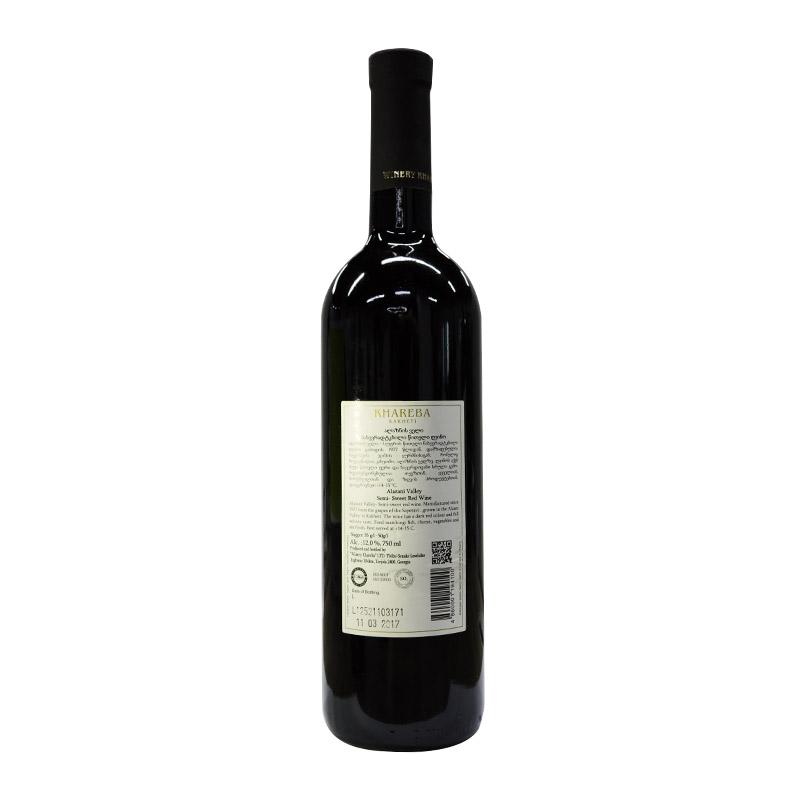 Khareba 格鲁吉亚 海列巴 阿拉扎尼河谷半甜红葡萄酒 750ml