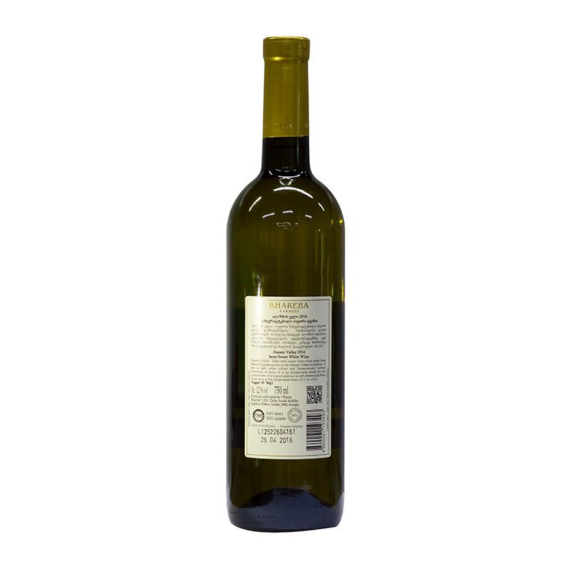 Khareba 格鲁吉亚 海列巴 阿拉扎尼河谷半甜白葡萄酒 750ml