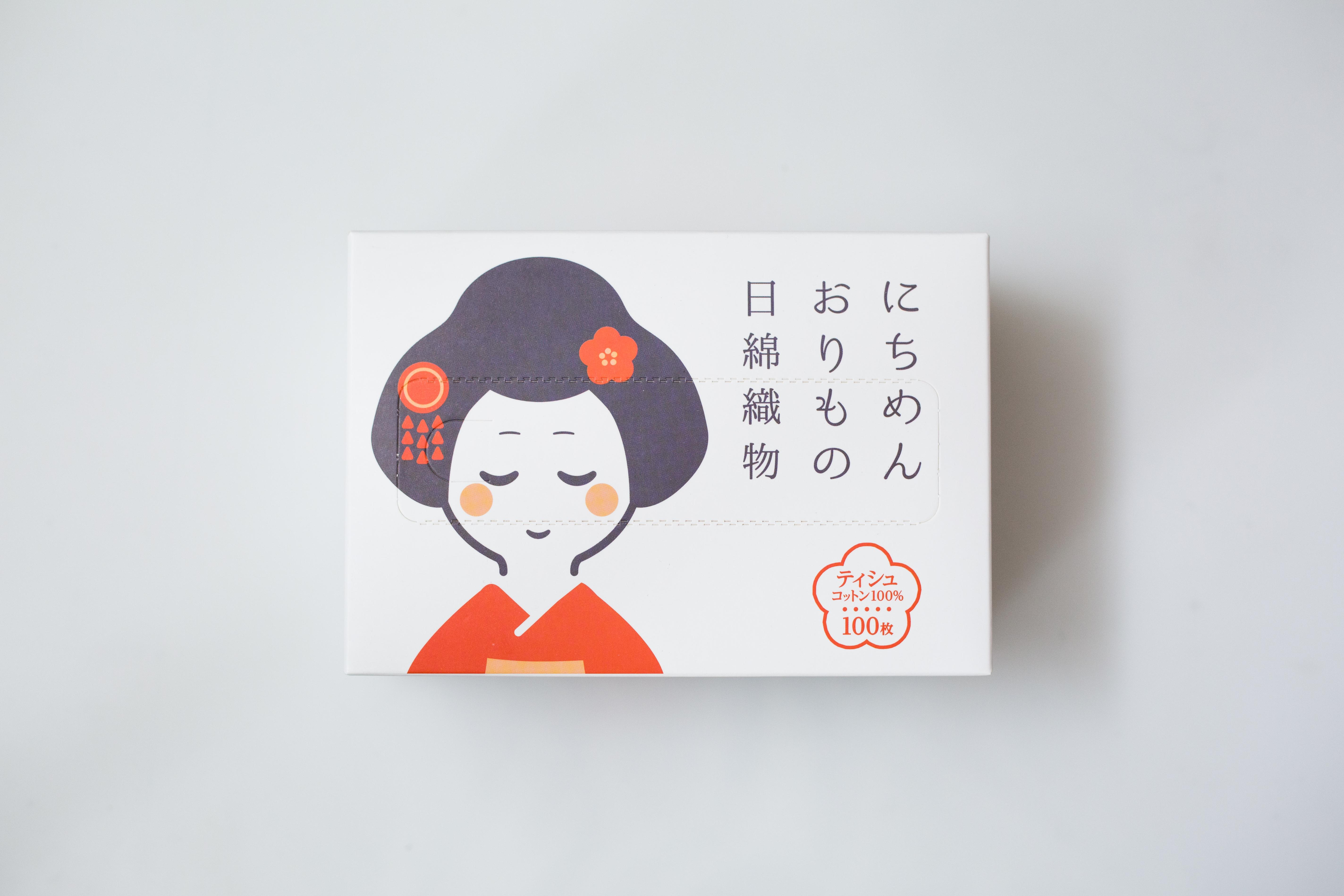 【一般贸易】日綿織物 日本 洗脸巾 艺伎-白色 100抽