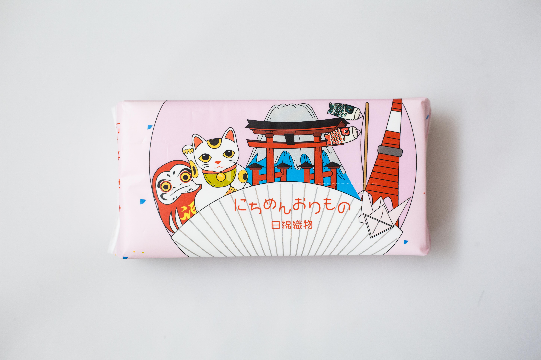 '【一般贸易】日本 日綿織物  洗脸巾 招财猫-粉色 80抽