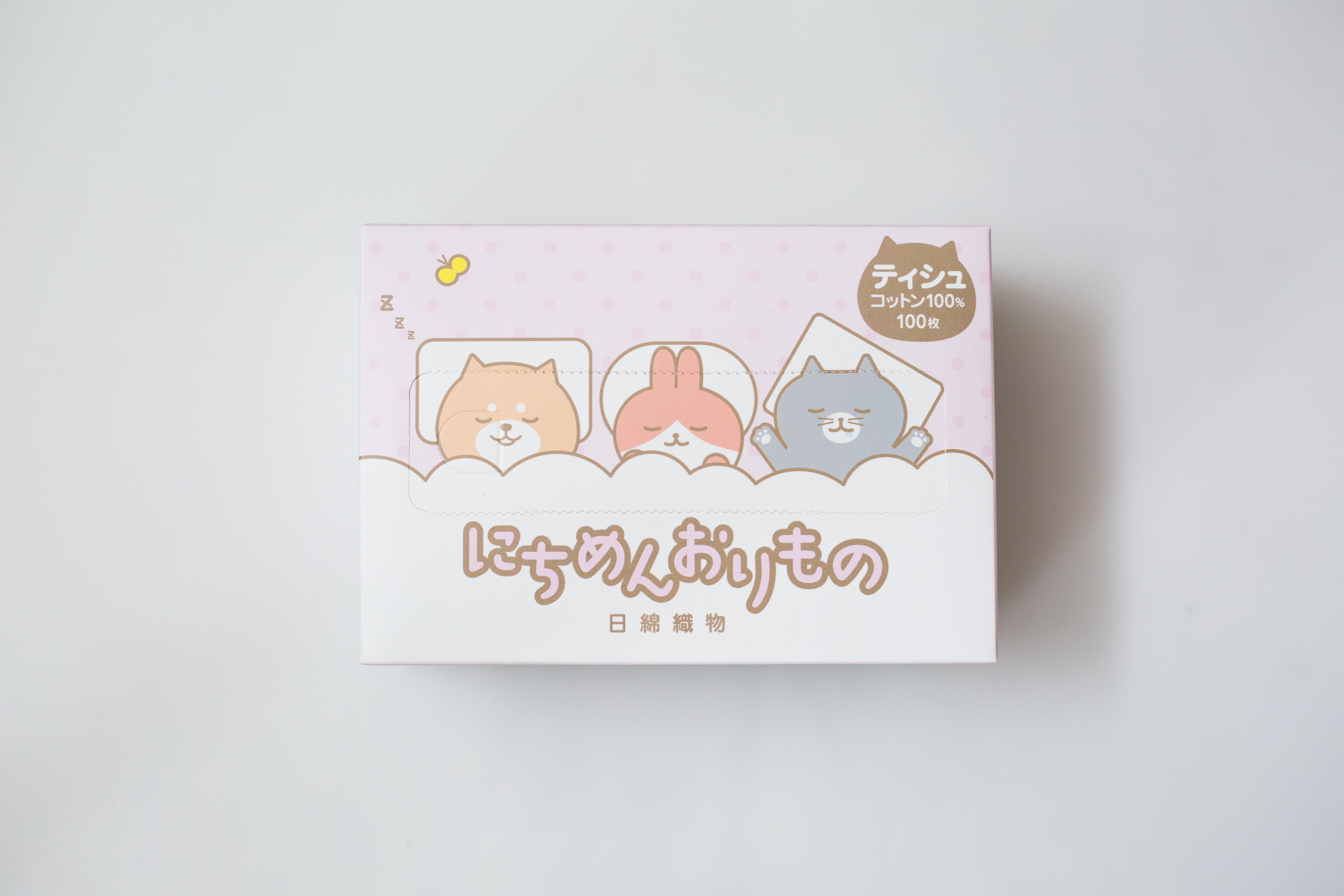 【一般贸易】日綿織物 日本 洗脸巾 萌物-粉色 100抽