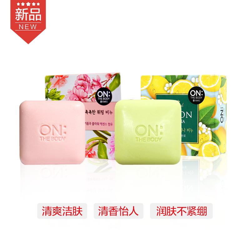 【一般贸易】韩国LG On The Body 安宝笛樱花味香皂 90g