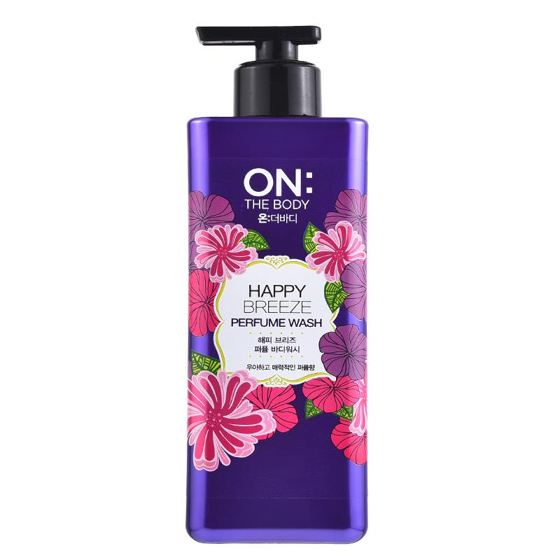 【ZY】【一般贸易】 韩国LG On The Body 安宝笛 紫色优雅香水沐浴露 500ml