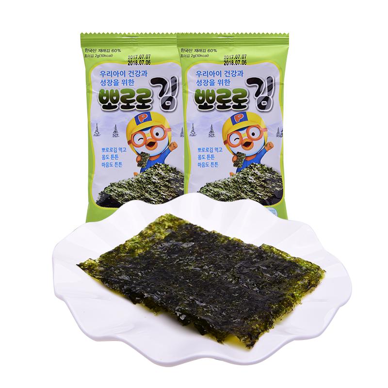 【一般贸易】韩国啵乐乐儿童即食海苔16g 绿包