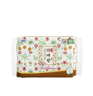【一般贸易】韩国LG贵爱娘闺艾朗中药草本卫生巾 21cm*18片