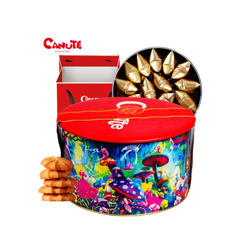 【一般贸易】中国香港 Canute克努特 仙境礼盒装曲奇饼干(奶油味、慕斯味)(仙境)320g